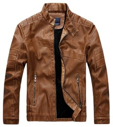 vintage collar leather jacket