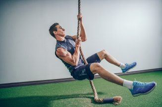 climbing rope in home gym