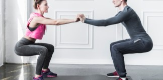 couple doing full body home workout