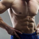 bodybuilder with six pack abs