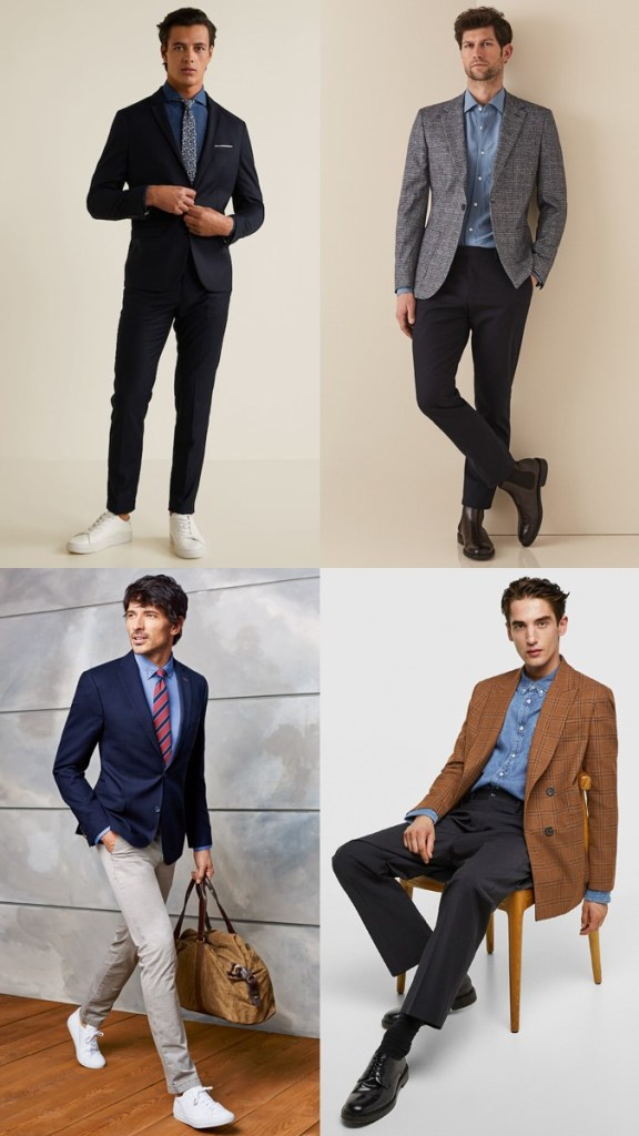 men's denis casual business outfits