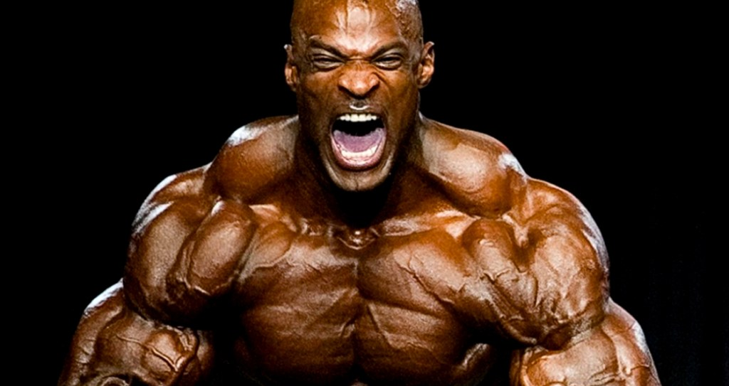 Ronnie Coleman showing arms
