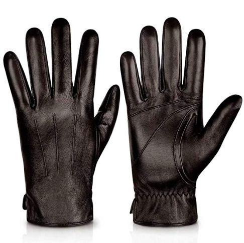 Genuine Sheepskin Leather Gloves For Men