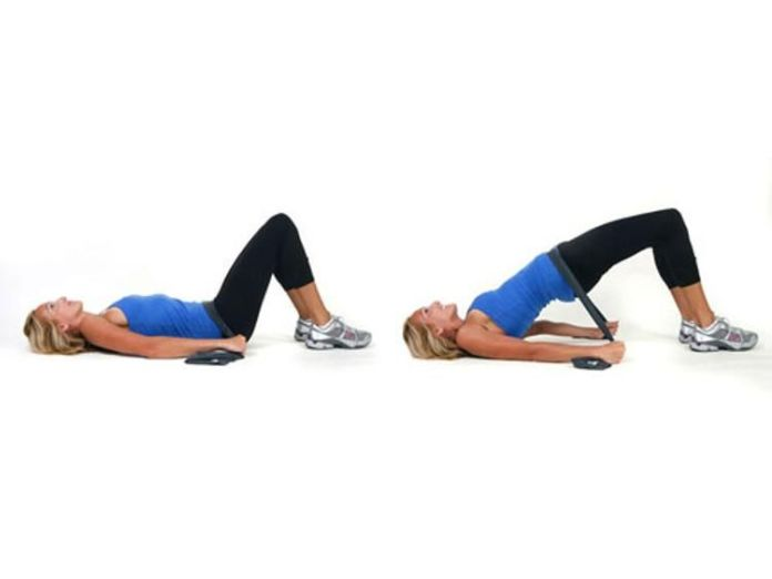 hamstring walkout resistance band exercise