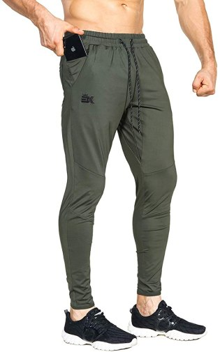 BROKIG Mens Lightweight Gym Jogger Pants