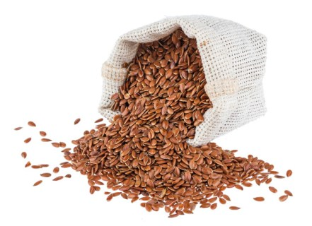 bag full of flax seeds