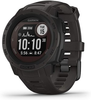 Garmin 010-02293-10 Instinct Solar, Solar-Powered Rugged Outdoor Smartwatch, Built-in Sports Apps and Health Monitoring