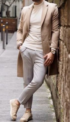 Turtleneck with dress pants, chinos or jeans