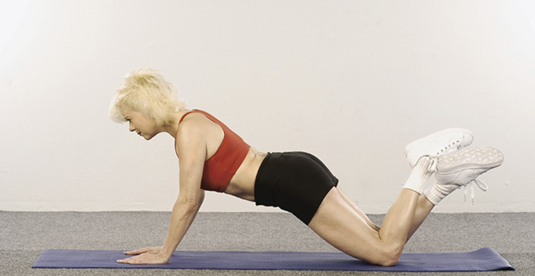 modified push up for older people