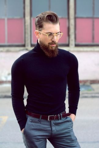 plain turtle neck fashion trend for men