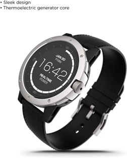 Matrix PowerWatch, Body Heat Powered Fitness Tracker Smart Watch