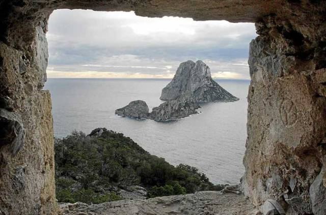 A view of Es Vedra from the tower