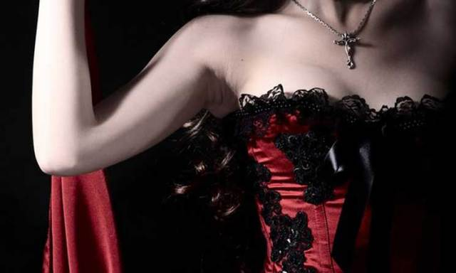 Fashion-Black-Lace-Beading-Dark-Red-Party-Corset-Tops-To-Wear-Out-(3)