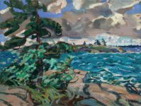Arthur Lismer, A September Gale, Georgian Bay, 1921, Oil on panel, 27.8 x 40.7 cm, Private collection.