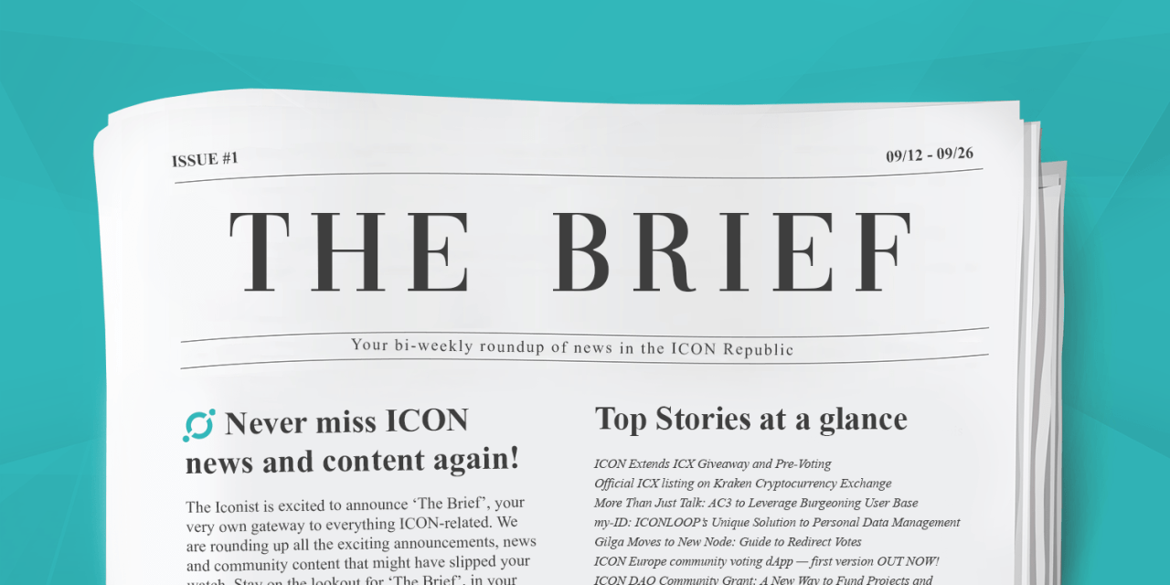 The Brief: Your Gateway to ICON News