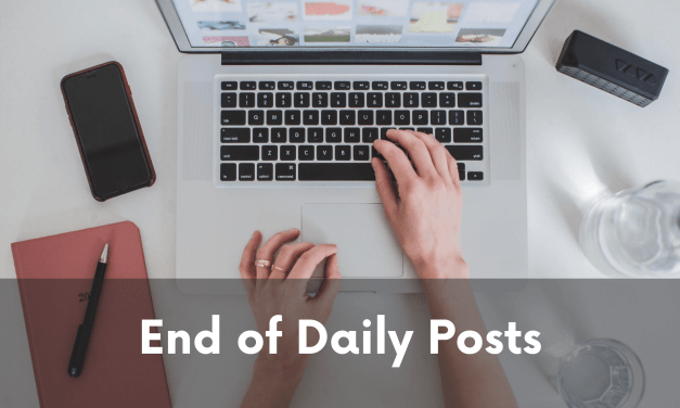 About the Infrequency of Posts…
