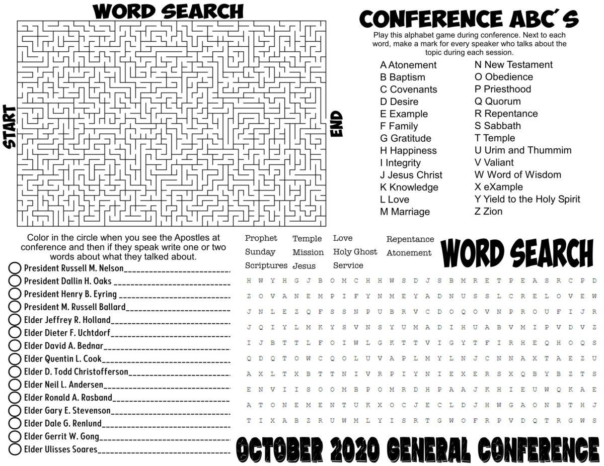 General Conference Worksheet