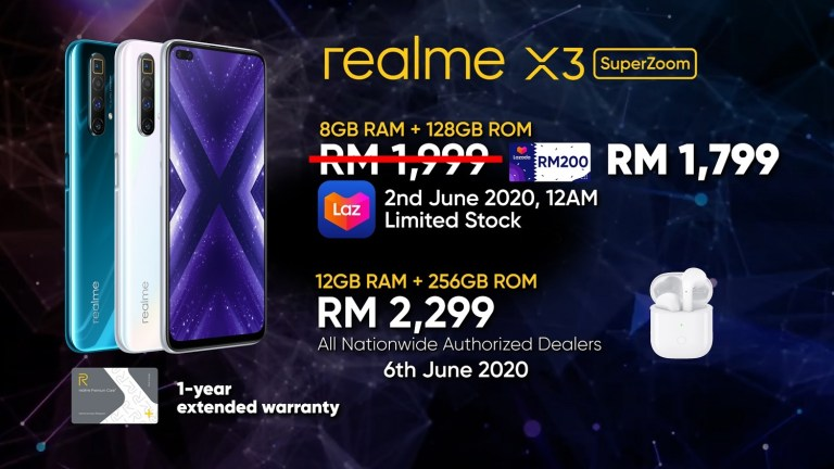 realme X3 SuperZoom is Now Official. Starting Price RM 1,999