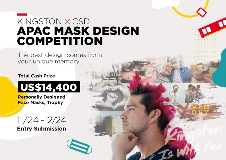 Kingston Partners with CSD APAC to Unleash the Power of Memories Face Mask Design Competition