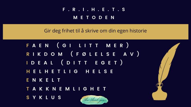 Frihetsmetoden The ideal you Silje E Vassøy