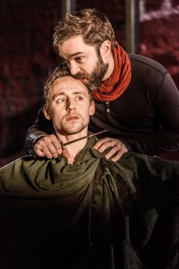 Martius (Tom Hiddleston) and Aufidius (Hadley Fraser): Coriolanus: Donmar Warehouse