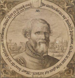 Hendrick Goltzius, Portrait of Jan Baertsz., the artist's father-in-law, Museum Boijmans van-Beuningen, Rotterdam