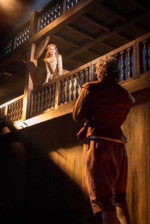 Will (Tom Bateman) finds Viola (Lucy Briggs-Owen) on her balcony