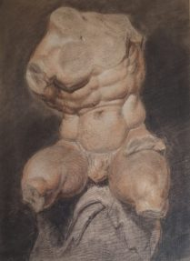 J.M.W. Turner, Study from a cast of the Belvedere Torso