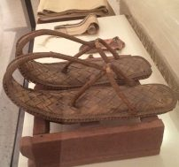 A pair of truly snazzy Egyptian sandals c.1500-800 BC, Neues Museum, Berlin