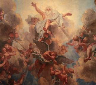 Antoine Coypel, God the Father; detail of the vault paintings in the Chapelle Royale, Versailles