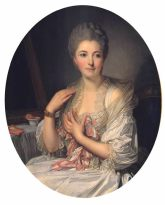 Jean-Baptiste Greuze, Portrait of Madame de Courcelles at her Toilette, Private Collection (formerly with Stair Sainty Gallery, London)