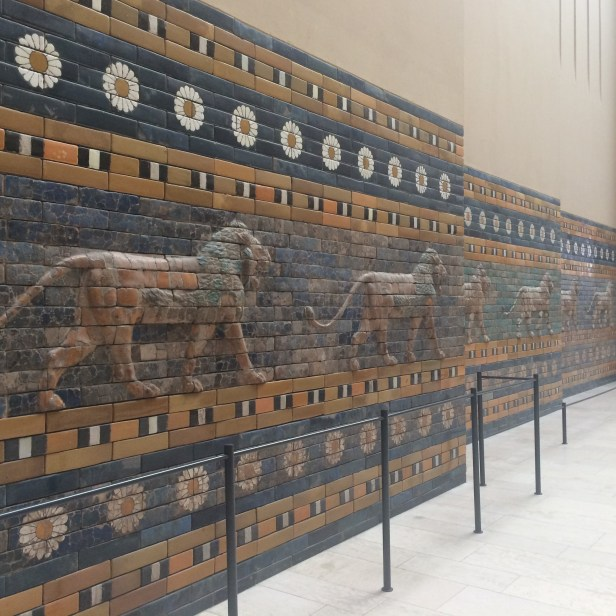 The lions decorating the lower register of the Processional Way, Pergamonmuseum, Berlin