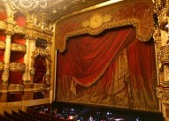 The stage seen from my seat at Palais Garnier (the Opera), Paris