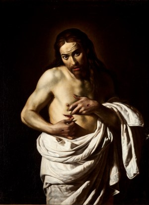 Giovanni Antonio Galli, Lo Spadarino, Christ Displaying His Wounds, c.1630, Perth Museum and Art Gallery