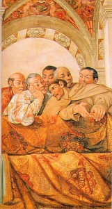 Hasekura Tsunenaga and other members of his entourage, including the Franciscan friar and translator Luis Sotelo, are shown in the frescoes of the Salone dei Corazzieri in the Palazzo Quirinale, Rome, painted 1616-17 by a team of artists including Agostino Tassi, Giovanni Lanfranco and Carlo Saraceni.