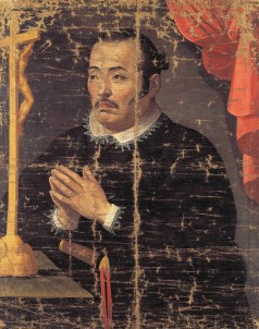 Unknown artist, Hasekura Tsunenaga in prayer, c.1615, Sendai City Museum, Miyagi, Japan