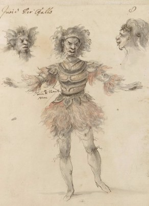 Stefano della Bella, Ballet costume for a Fury for Hipermestra, 1658, British Museum, London © The Trustees of the British Museum