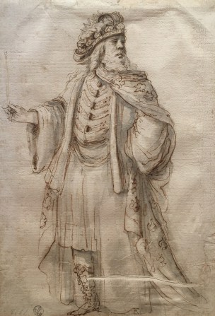 Stefano della Bella, Costume study for a king (Danao?), Uffizi, Florence