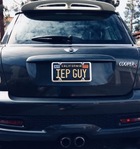 IEP Guy California License Plate