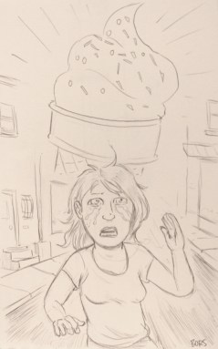 """""""She was upset because her sister wouldn't buy her ice cream, so she was running in the street."""" Matt Bors"""