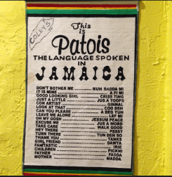 why not sharpen up on my Patois while I eat!