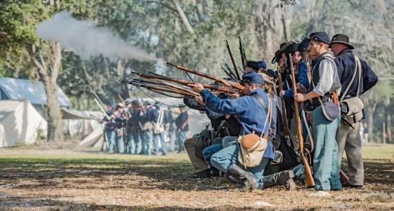 Battle of Townsend's Plantation – 2017 – Civil War Re-enactment – Mount Dora, Florida