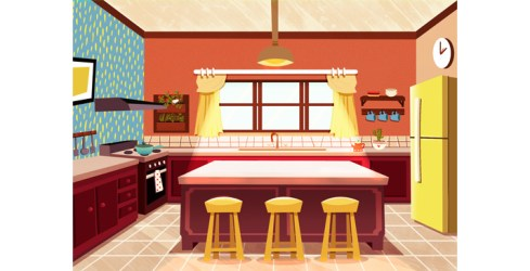 thamires paredes cartoon kitchen The Illustrators Agency