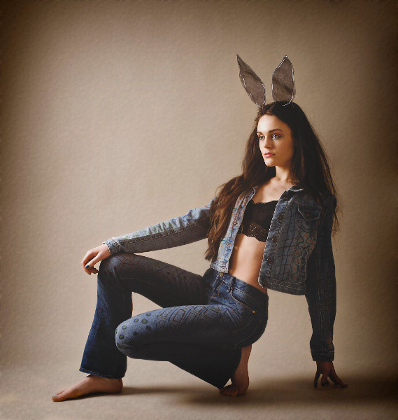fashion style image with bunny ears