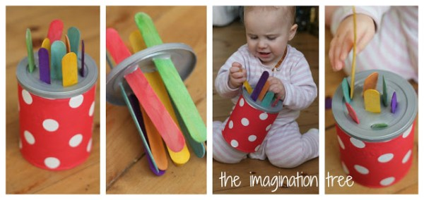 4 DIY Baby and Toddler Toys for Motor Skills The