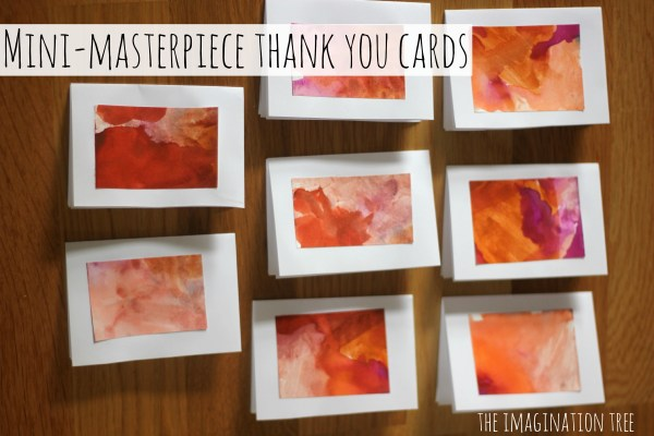 Thank You Cards Kids Crafts
