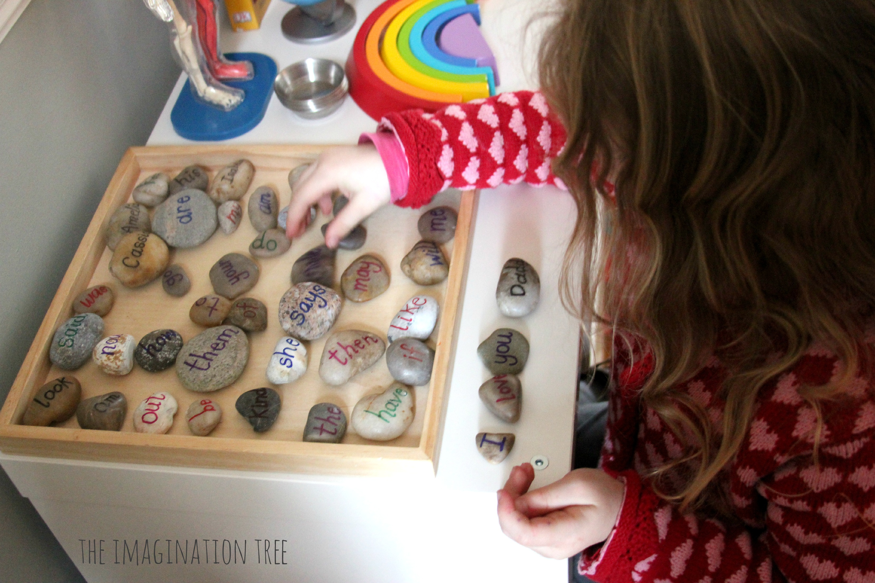 Sight Word Pebbles For Literacy Play