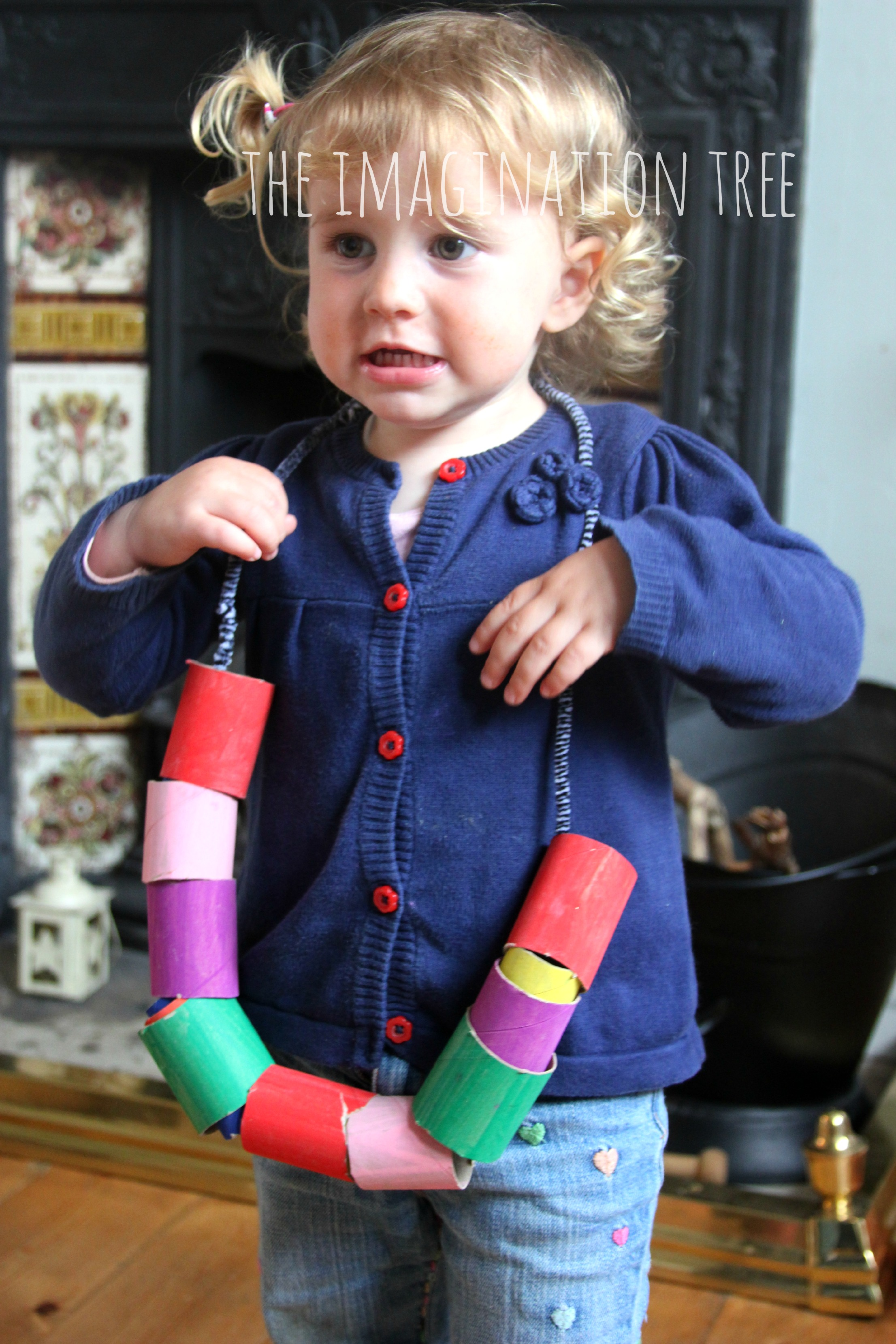 Cardboard Beads Threading Activity For Toddlers