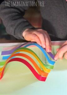 Rainbow Paper Sculpture Exploring Mars