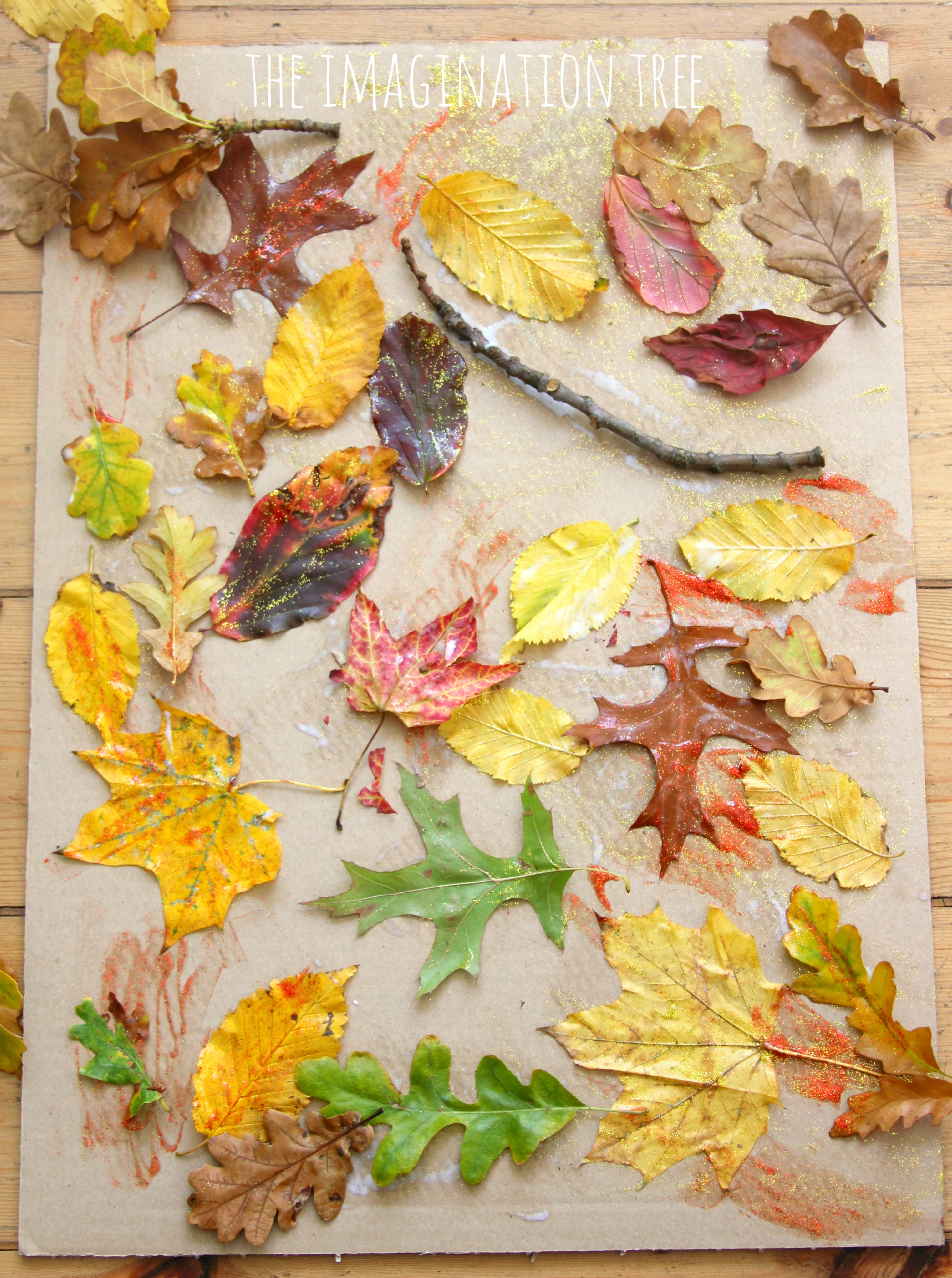 autumn leaf collage the